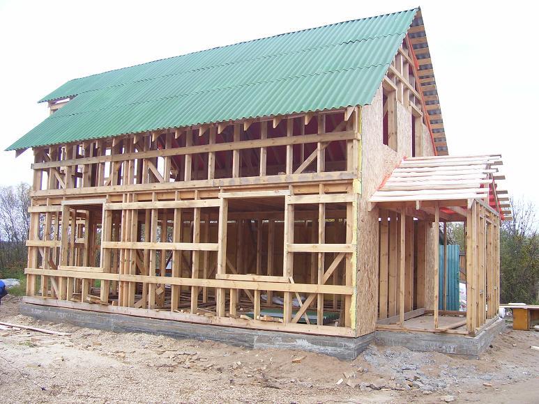 Строительства каркасного дома под ключ в кредит